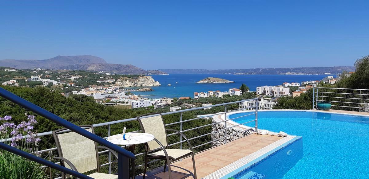 Villa with a private pool and sea views in Almyrida