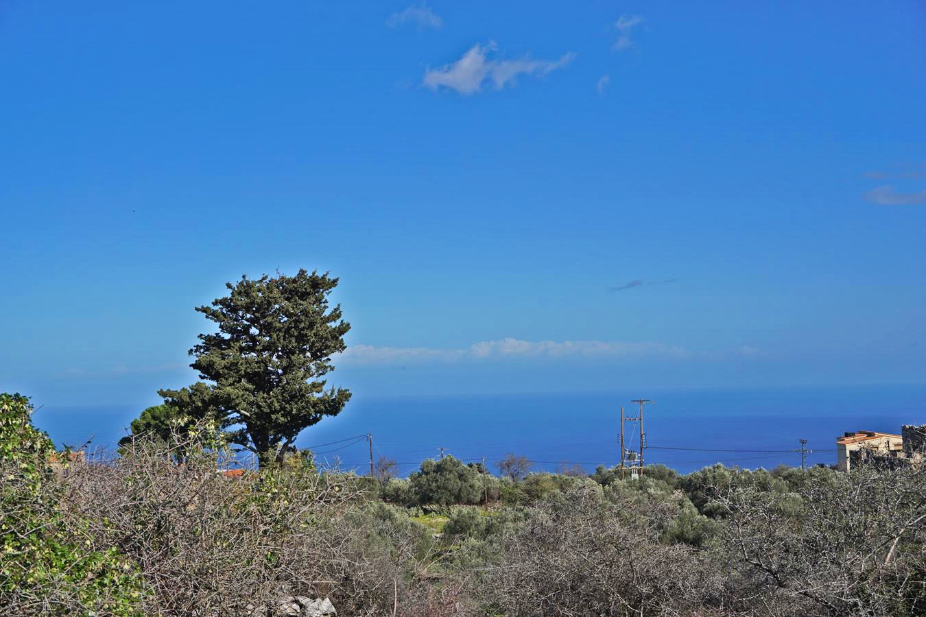 Plot with sea and White Mountains views in Kefalas