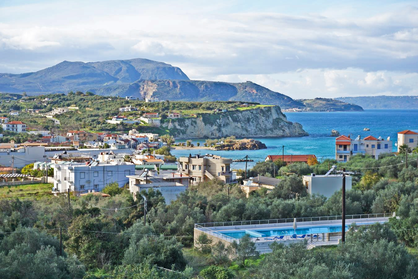 Plot with beautiful sea and White Mountains views in Almyrida